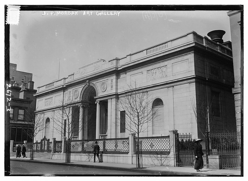 J. P. Morgan Library in April 1913; Courtesy of Bain  News Service/Library of Congress Prints & Photographs Division