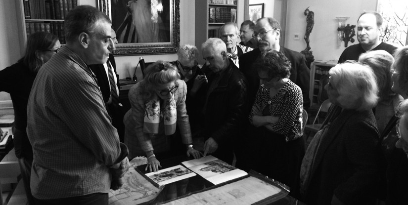 The Stewardship Society visits the Shubert Archive at the Lyceum Theater; Courtesy of the New York Preservation Archive Project