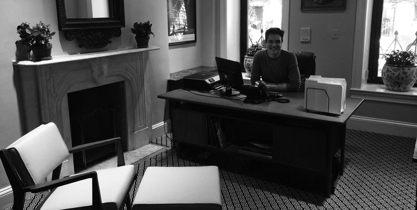 Executive Director Matthew Coody at the Archive Project's office; Courtesy of the New York Preservation Archive Project