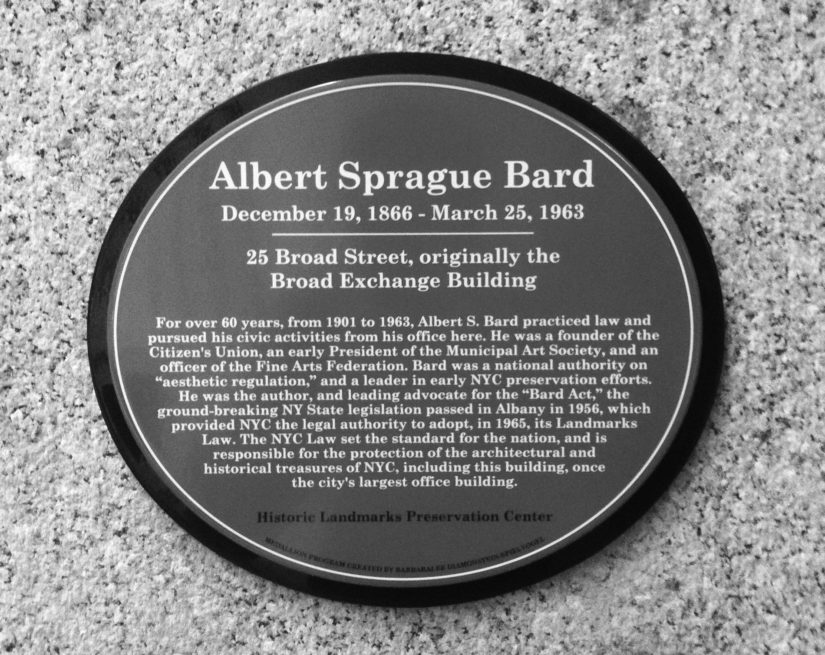 Dedication Ceremony for the Albert S. Bard Cultural Medallion