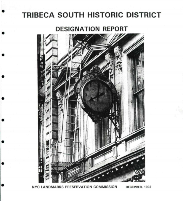 Tribeca Historic Districts