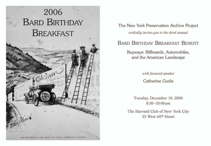 Bard Birthday Breakfast 2006