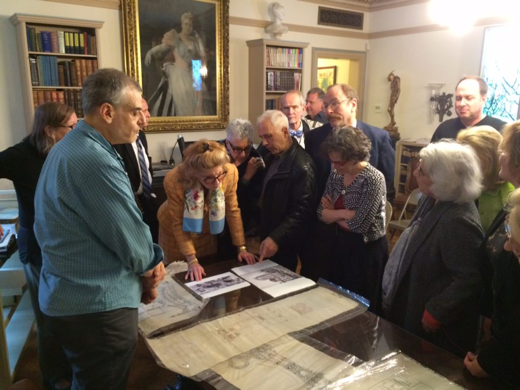 The Archive Project's Stewardship Society tours the Shubert Archives - photo courtesy of the Archives Project.