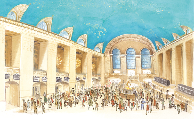 Panels from When Jackie Saved Grand Central | Photo courtesy of illustrator Alexandra Boiger